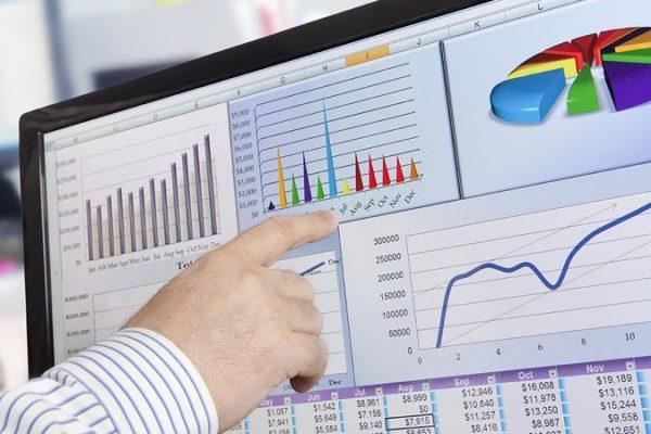 pressione fiscale in Italia, in Europa e nel mondo, esempio di grafico su monitor desktop PC